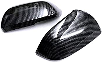 HIGH FLYING ABS Carbon Fiber Style Rear View Side Door Mirror Cover Cap Decorative Trim 2pcs for Volkswagen Atlas 2017 2018 2019