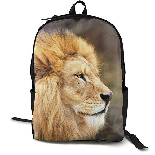 Mochilas universitarias mochila escolar portátil mochila de viaje, senderismo, camping, cara de león melena gato grande Predator