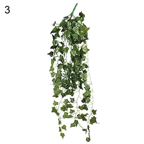 Videira artificial, soAR9opeoF artesanato decorativo, 1Pc verde folha artificial Ivy Vine planta festa de casamento decora??o de parede - Ivy Vine