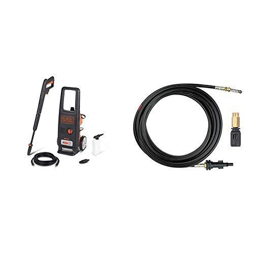 Black+Decker BXPW1600E Idropulitrice ad Alta Pressione (1600 W, 125 bar, 420 l/h), Nero,...