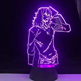 3D LED Lamp SHOTA AIZAWA Anime LAMP My Hero Academia Night Light Japanese Anime Table Lamp, 16 Colors, with Remote Control