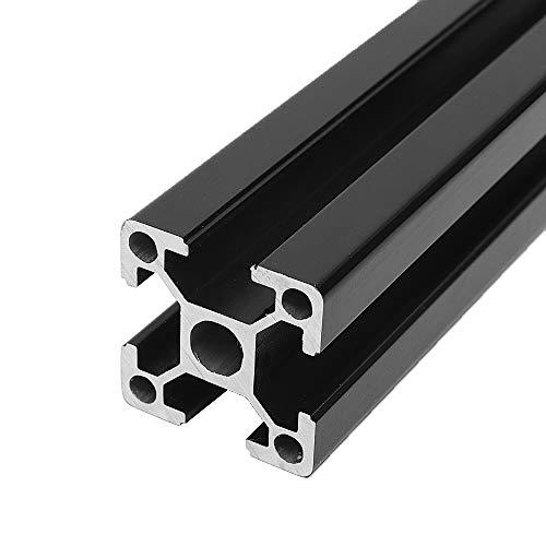 RFElettronica, Machifit 2020 T-Slot Profili In Alluminio Profilato Nero con Scanalatura a T, telaio estruso per stampante 3D e CNC, 400mm
