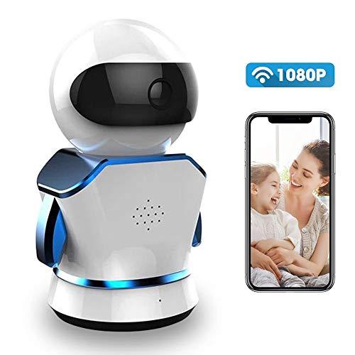 AIHOME Inteligente Robot de inalámbrica cámara WiFi IP Cámara de 3MP HD 1080P Interior Encendido Cámara con visión Nocturna Detección de Movimiento 2Vías de Audio doméstica Seguridad Supervisión