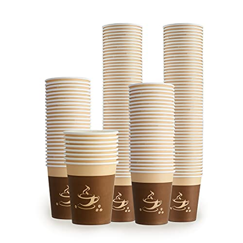 50 Pack, Paper Coffee Cups | Disposable Cups for Hot Drinks | Great for Hot...