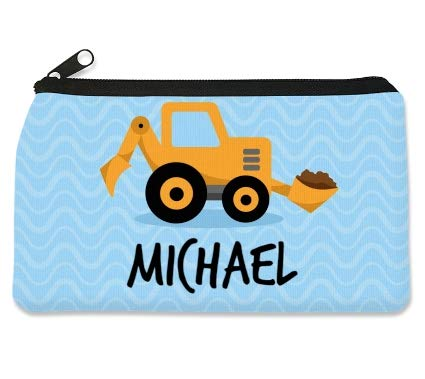 Personalized Children's Pencil Case by Dinkleboo. These Cool Pencil Cases for Kids Make The Perfect Back to School Pencil Case to Keep Pens, Pencil and Erasers Organized. (Little Digger)