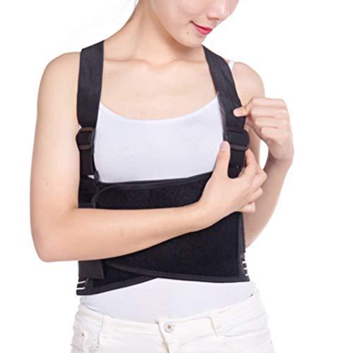 Supvox Elastische Rippengürtel Rippenbandage mit Rückenstütze Rückenstützgürtel Medizinische Rippengurt Brustband für Gebrochenen Verrutschten Rippen Patienten Damen Herren