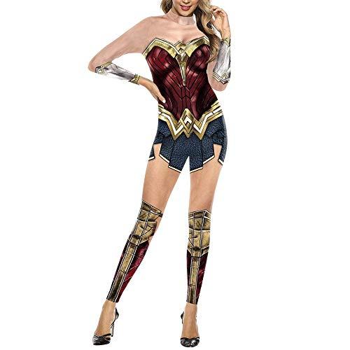 YQFZ Wonder Vrouw Cosplay Kostuum, Kerstmis Halloween Show Bodysuit Jumpsuits, Justice League Superhero Feestkleding