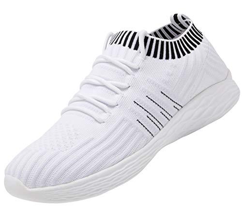 Nishiguang Damenmode Sportschuhe Wanderschuhe (lässig, leicht, atmungsaktiv) Mesh-Laufschuhe(white41)