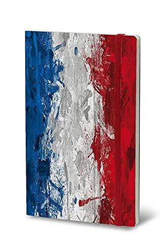 Stifflexible 033M - Cuaderno de notas historical Notes 13 x 21 cm 192 páginas, LES COULEURS DE LA LIBERTE (bandera de Francia)