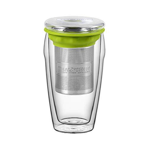 TEA SHOP - Tazas de Cristal - All in One Jumbo Green - 380 ml - Taza de te