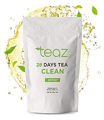 Teaz 28 Days Detox - Clean Tea | 85g Loose Leaf | Slim Tea for Weight Loss | Detox Tea | Diet & Fat Loss Tea | Cleanse Tea | Natural Dietary Supplement | for More Successful Diet (Detox Tea) from Teaztea