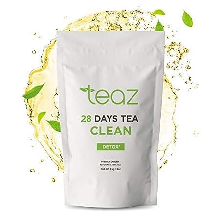 Detox products Teaz 28 Days Detox – Clean Tea | 85g Loose Leaf | Slim Tea for Weight Loss