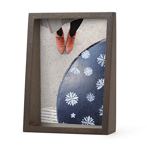 UMBRA Edge Frame. Cadre photo Edge, en bois, pour 1 photo de 13x18cm. Coloris bois finition noyer.