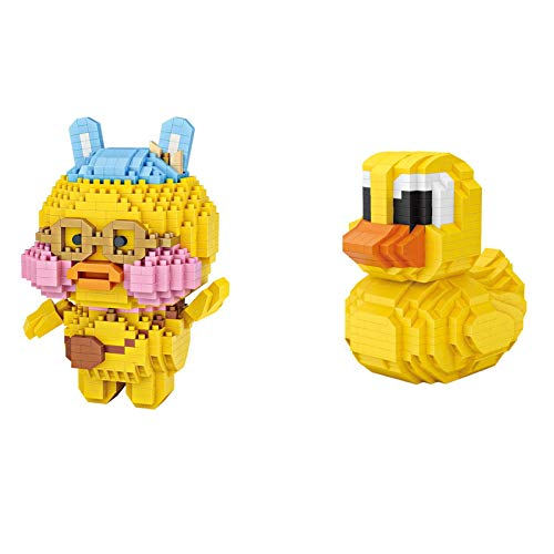Bloque de construcción Juguete Mini Bloques de dibujos animados Pancoat Duck Diamond Creativo Micro partículas Bloques de construcción para niños Rompecabezas educativo juguete regalo