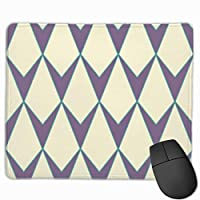 """V Shaped Rhombus Or Diamond Seamless Mouse Pad Non-Slip Rubber Gaming Mouse Pad Rectangle Mouse Pads for Computers Desktops Laptop 9.8"""" x 11.8"""""""