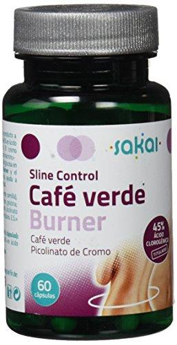 Sakai Sline Control Café Verde Burner Complemento Alimenticio - 60 Cápsulas