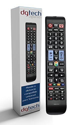 DigitalTech - Mando Universal para televisores Samsung Smart 3D. Compatible con más de 340 Modelos de mandos Samsung.