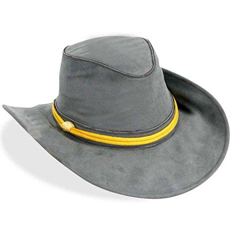 KarnevalsTeufel Südstaaten Hut Cowboy Kopfbedeckung grau