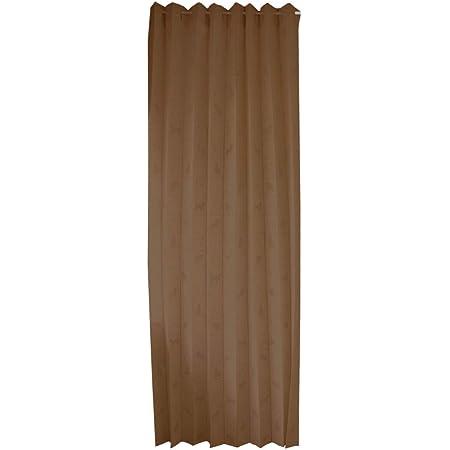 アコーディオンカーテン 遮熱 冷気遮断 間仕切り 飛沫防止 贈り物 Web会議 Zoom 背景 ネコ柄 (ブラウン BR)