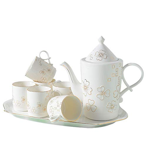 Lowest Price! Tea set Glazed Porcelain Coffee Cup Set European Style Afternoon Tea Set Is Very Suita...