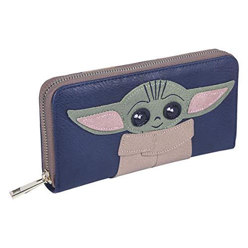Cerdá Life'S Little Moments Cartera Baby Yoda Fabricada en Polipiel-Licencia Oficial Star Wars, Multicolor, Medio