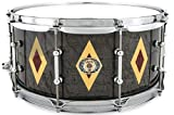 "Ludwig Legacy Mahogany""Diamond Flash"" Snare Drum - 6.5"" x 14"" - Charcoal Birds Eye Maple"
