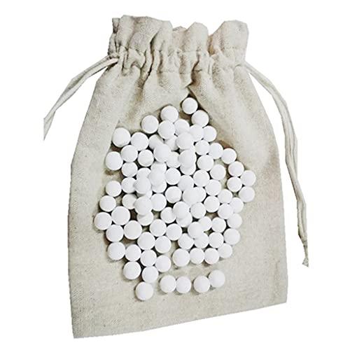 Qirun 500g Pie Cerámica para Hornear Granos Perlas Prensa Piedra Pesos Herramientas con Bolsa de Almacenamiento