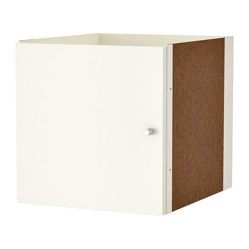 2 XIKEA KALLAX Einsatz mit Tür in weiß; (33x33cm); Kompatibel mit EXPEDIT