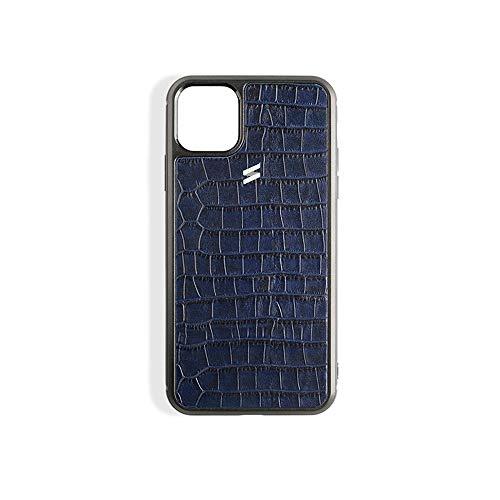 Funda Compatible con iPhone de Piel Sidney (3 Colores Disponibles). (iPhone 11 Pro, Blue)