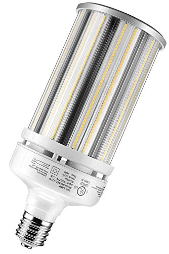 ngtlight 36W foco LED de maíz luz reemplazar 100W HPS MH Street Post parte superior área de luz, 6000K Blanco brillante E26Base de tamaño mediano AC100–277V UL Listed, Dia120*290MM, 125watt-e39