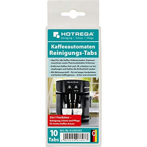 HOTREGA Kaffeeautomaten Reinigungs-Tabs 10 Tabs á 1,6 g / 18 mm, Entkalker, Kalkentferner