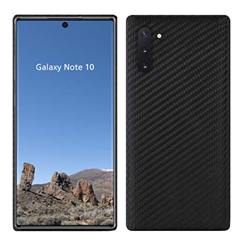 VIVERSIS echte Carbon Hülle für Samsung Galaxy Note 10, matt schwarz, ultradünn, sehr leicht, robust, kabelloses Laden, hohe Qualität - Made in Germany…