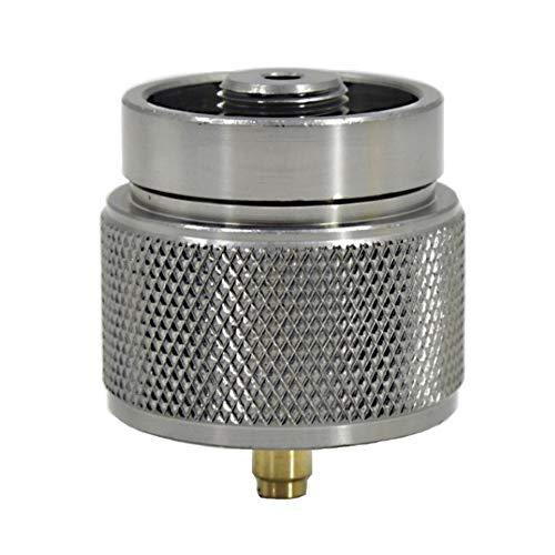 Yiyer Adaptador Portátil de Estufa para Acampar Al Aire Libre de 1 LB Adaptador de Estufa para Exteriores de Aleación de Aluminio para Tanque Pequeño Y Bote de Gas Salida: Válvula