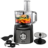 Geepas 1200W Compact Food Processor | Multifunctional Electric Food Mixer with Chopper Knead Dough S...
