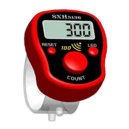 Lankater 1pc Mini-LCD-elektrische Digital Display Finger Zähler Licht Für Nähen Stricken Weben Sport Zufällige Farbe