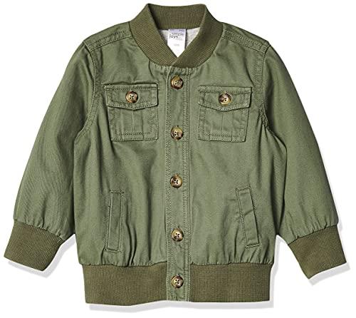 Simple Joys by Carter's Twill Button Up Cotton Lightweight Jacket, grün, 4T