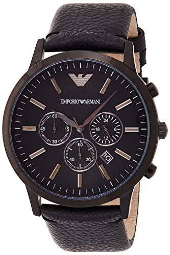 Emporio Armani Men's AR2461 Dress Black Leather Watch