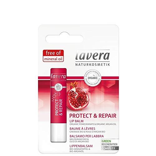 Lavera Lip Balm Protect & Repair, 4.5 g - Natural Regeneration - Beautiful Lips - Natural Lip Care - Lip Balm - Lip Moisturizer - Lip Care - Natural - Skin Care - Sensual Lip - Germany
