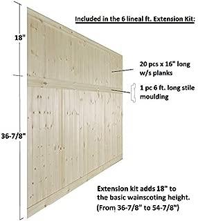 Allwood Pine Wainscot Extension Kit