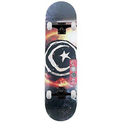 Foundation Star & Moon Sun Flare complete skateboard Pro nero 21cm