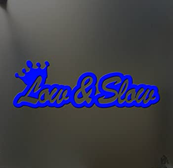 Low and Slow Sticker Funny JDM Acura & Honda Lowered car Truck Window Decal Blue