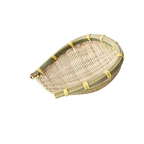HUIJUNWENTI Handgemachte Lebensmittel Lagerung Bambus Korb, Restaurant Dish, oo Tou Obst Bambus geflochtenes Floß, Ablagekorb, Gebäck gewebt Korb, 12 cm, 16 cm, 20 cm, 25 cm Hochwertige Produkte 7