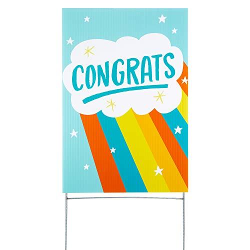 Hallmark Congratulations Yard Card, Rainbow (Yard Sign with Stake) (1499RZT9901)