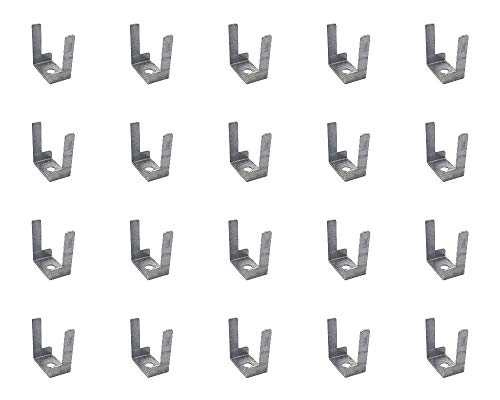 Mini Trunking Fire Rated Steel Cable Clips Electrical Cable Management Solution 29x15x32.5mm - Pack of 20