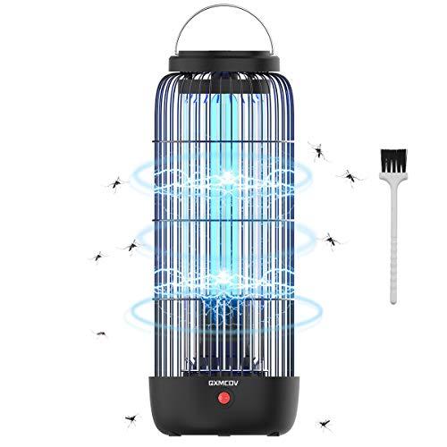 Qxmcov Lámpara Antimosquitos Electrico, 60m² 13W UV Lámpara Anti Mosquitos Interior con Caja de Recogiday Cepillo Limpio para Mata Mosquitos, Insectos, Polillas, Moscas, Efecto