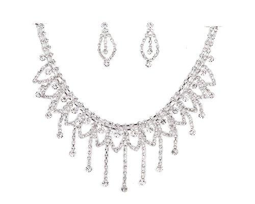 Bling one blank de brillantes transparente collares o pendientes juego de