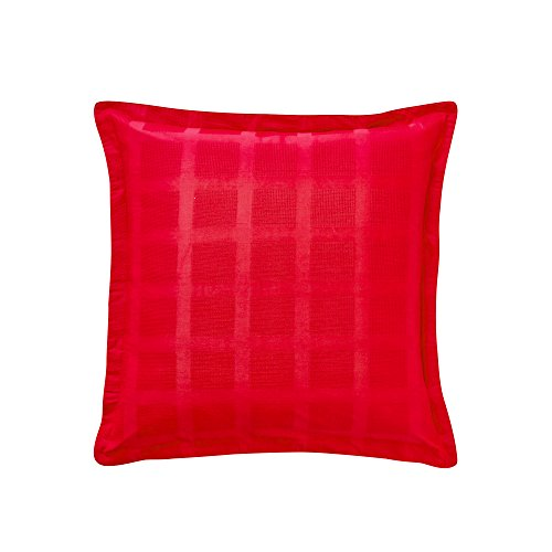 Essix - Taie d'oreiller Regain Satin de coton Cerise 65 x 65 cm