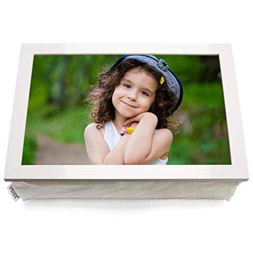 Large Personalised White Custom Photo Lap Tray Lap top Cushion Bean Bag   A3