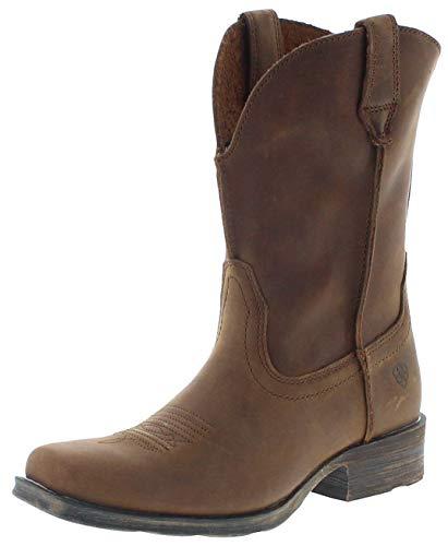 Ariat Damen Cowboy Stiefel 17326 Rambler Westernreitstiefel Lederstiefel Braun 42.5 EU