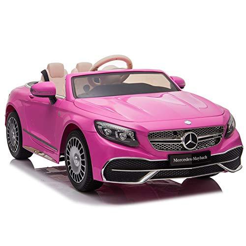 ATAA Mercedes Maybach S650 - Rosa - Lujoso Coche eléctrico para niños